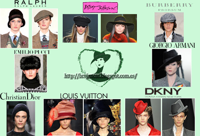 Colección otoño-invierno 2012-2013 Complementos gorros sombreros pasarela Christian Dior, Louis Vuitton