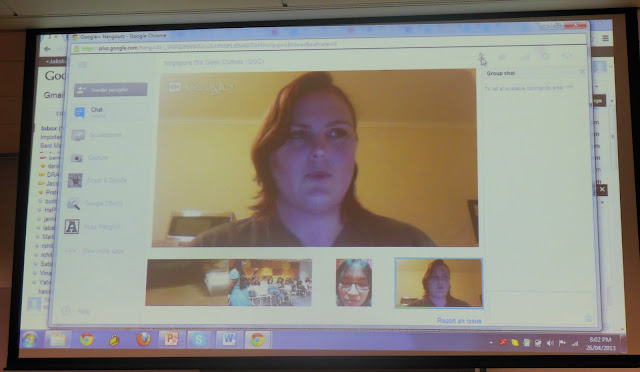 Google Hangout with Miriam Hochwald, Australia, Girls Geek Coffee, Singapore, First Meetup @ Asia One Square, Google office, GGC, GGCS