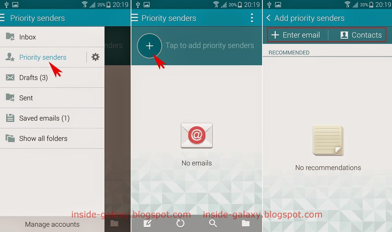 Priority List App The Priority Senders List