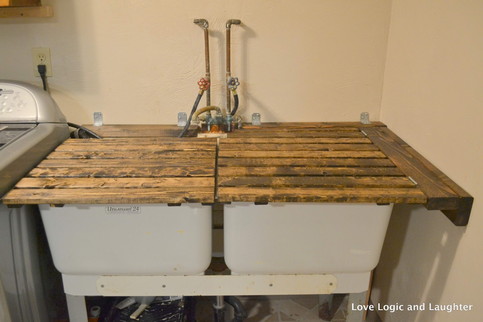 Utility Sink With Countertop : ... Makeover -Updated Utility Sink -Creating More Countertop Space
