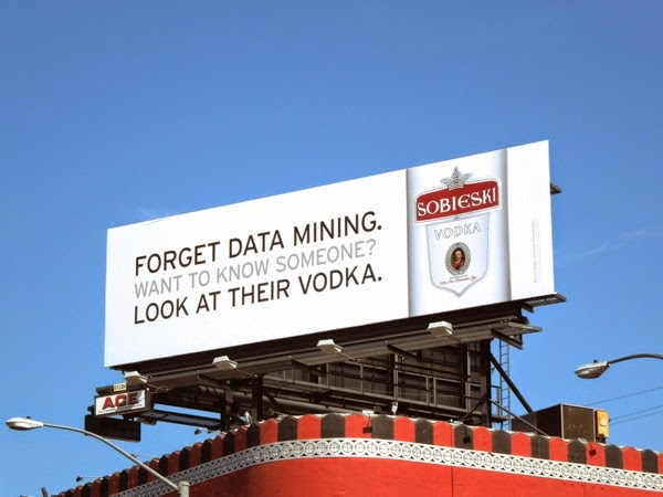 Sobieski Vodka data mining billboard