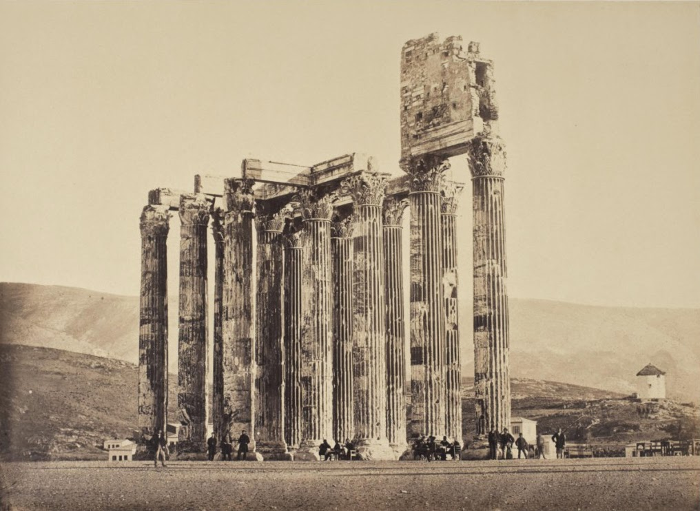 1858 photo of Temple of Olympian Zeus