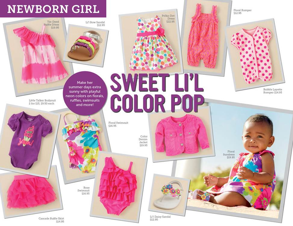 newborn girl summer trends