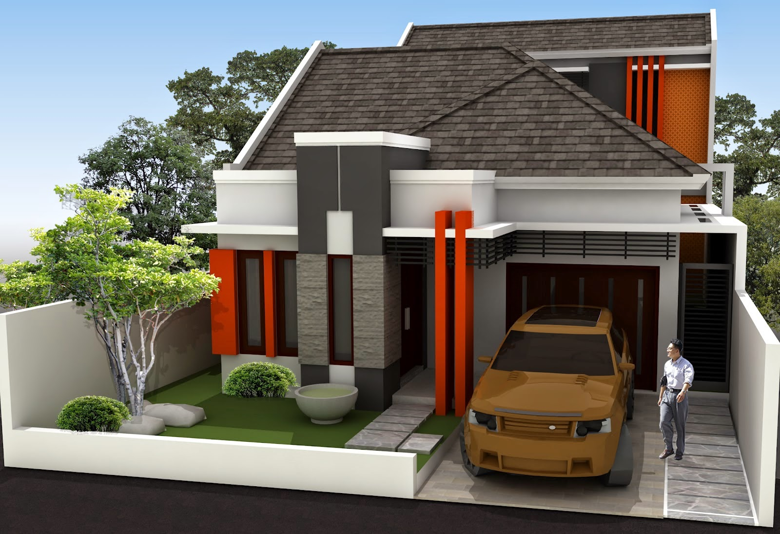Pembagian Ruangan Pada Desain Rumah Minimalis 1 Lantai