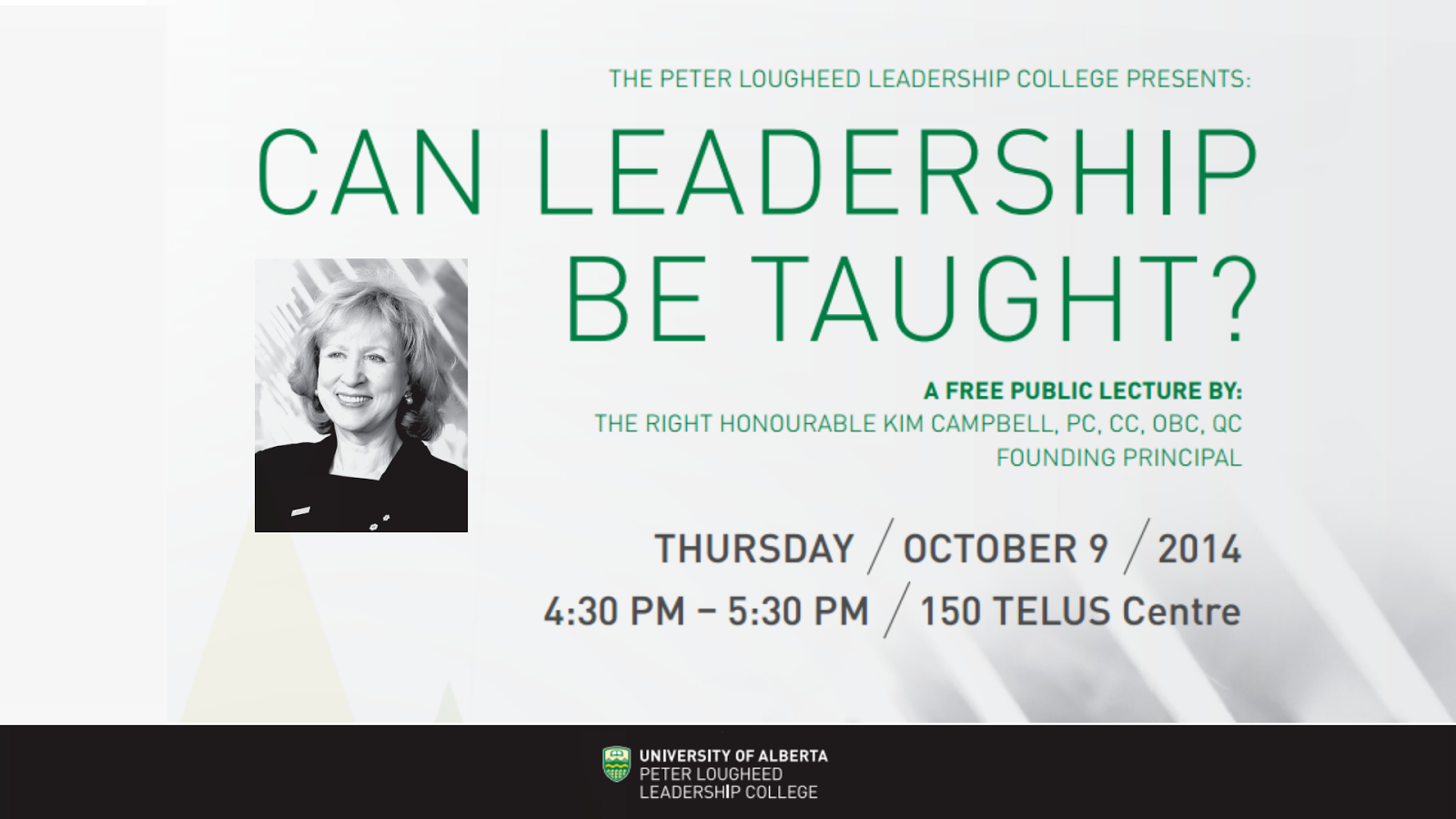 Can Leadership Be Taught Public Lecture