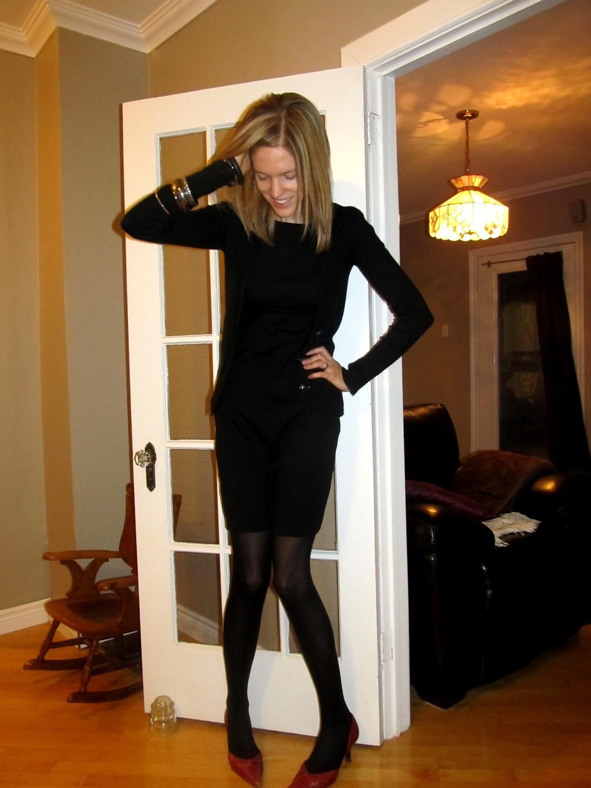 how to wear a little black dress in winter