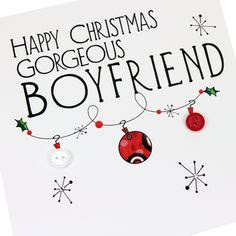 what to write in a christmas card for boyfriends family
