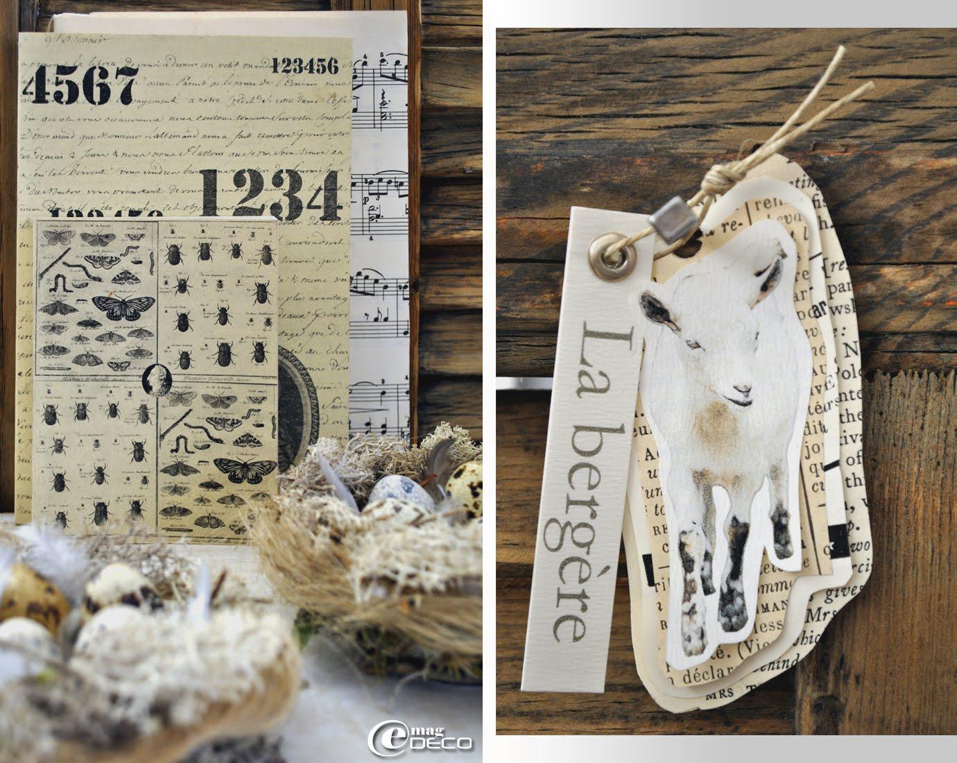 Planches d'écriture et de chiffre au stencil et de papillons