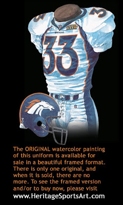 Denver Broncos 1998 uniform