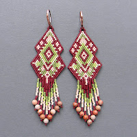 схемы бисер бисероплетение free peyote patterns beading beadwork earrings brick