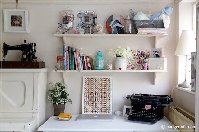 Workspace Makeover - Shabby Chic White Workspace