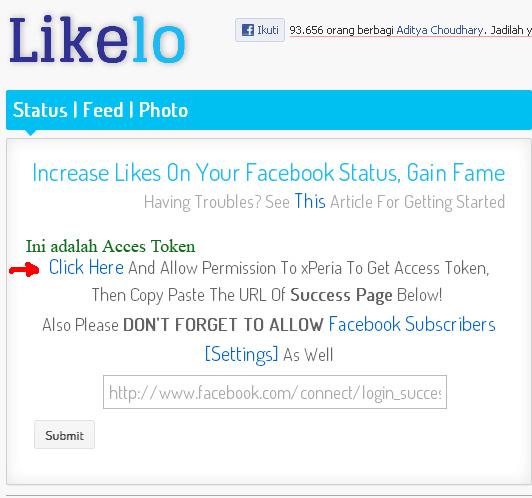 Cara Mudah Mendapatkan Banyak Like di Status Facebook Terbaru 2013