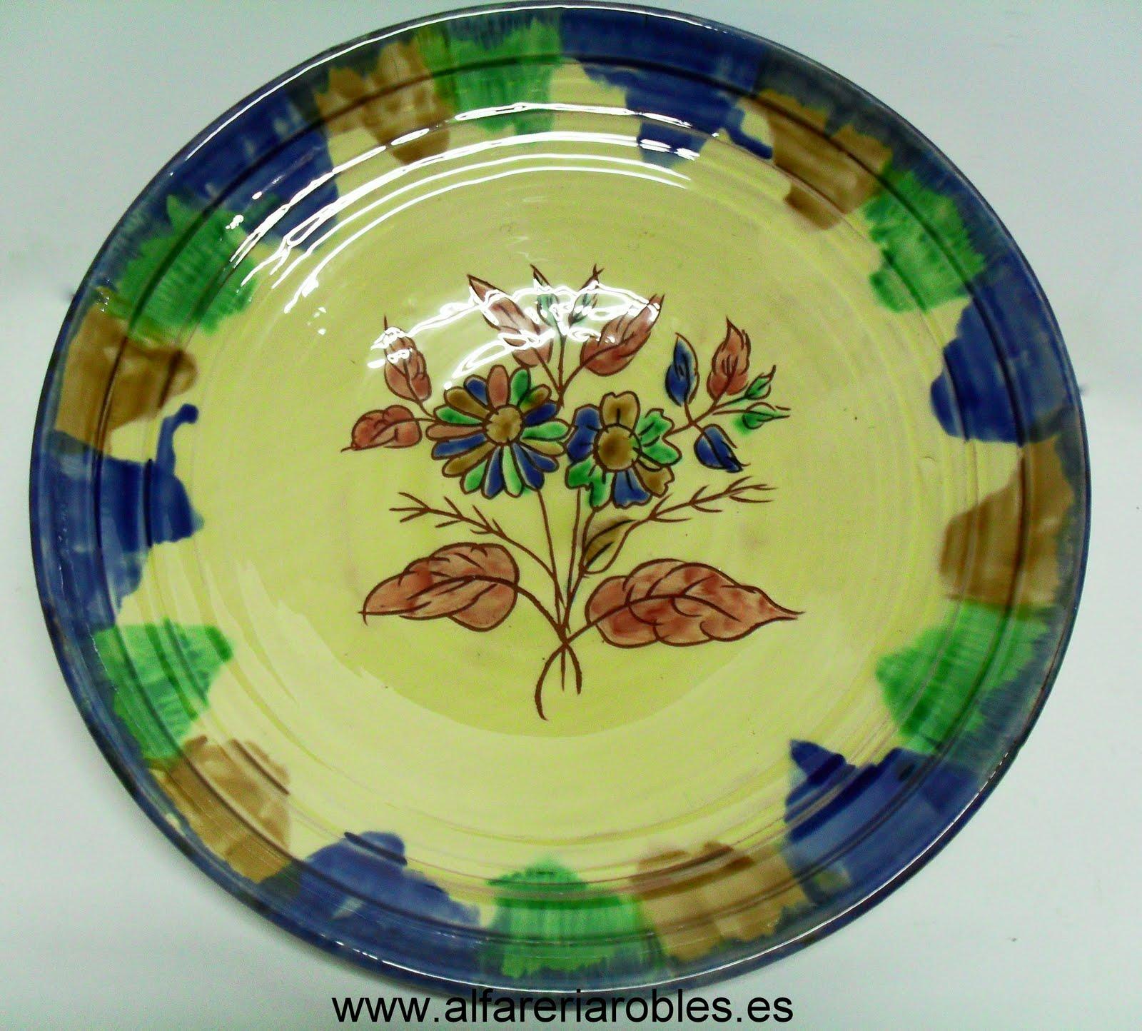 Alfarer a cer mica robles artesan a de almeria platos cer mica - Platos ceramica colores ...