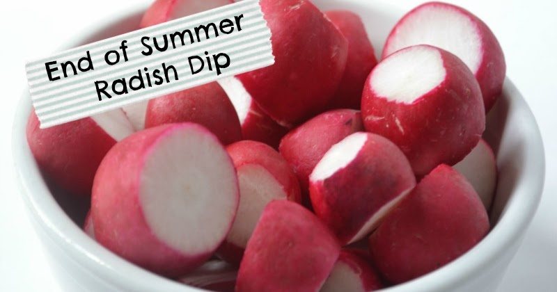 Polkadot Fluff: End of Summer Radish Dip