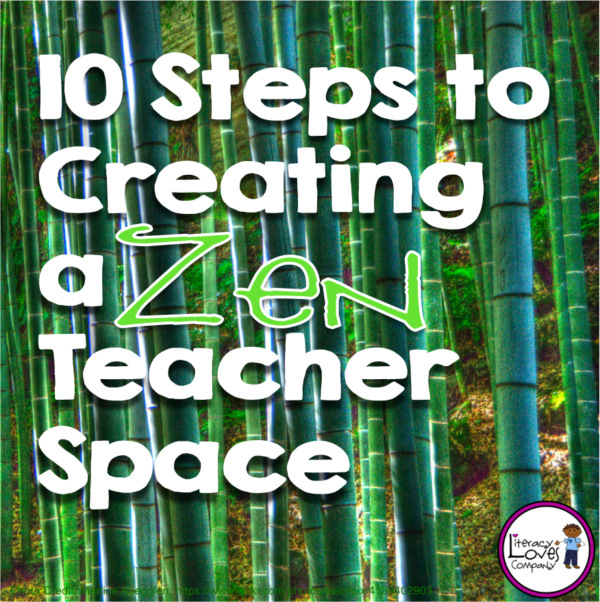 Zen Classroom Decor ~ Literacy loves company upper elementary bts hop