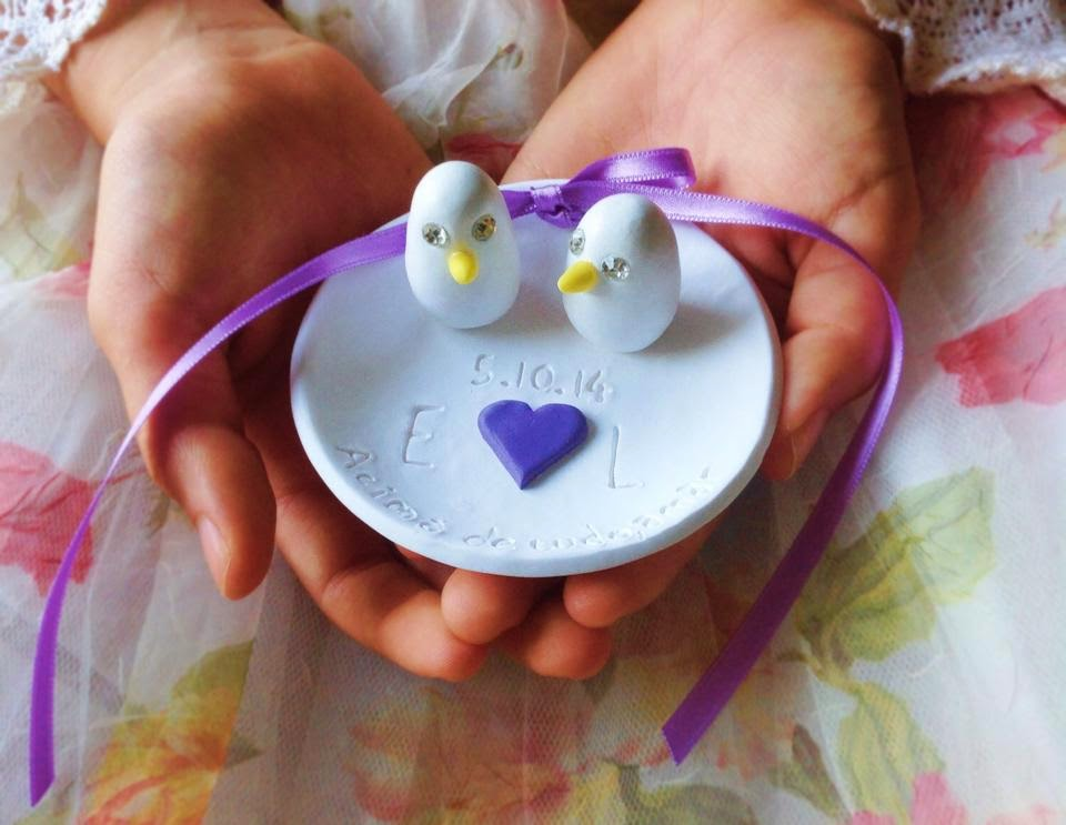 Ring bearer dish with love birds