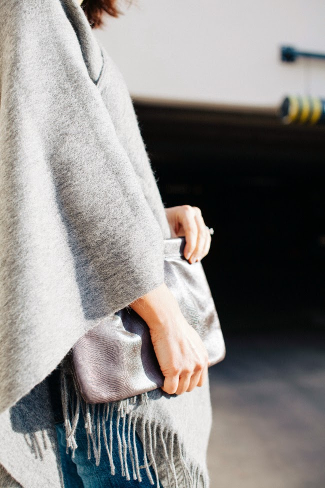 Grey Wrap Sweater