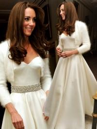 Кейт миддлтон второе свадебное платье