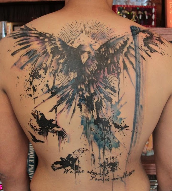 Xăm Hình Chim Đại Bàng Ở Lưng