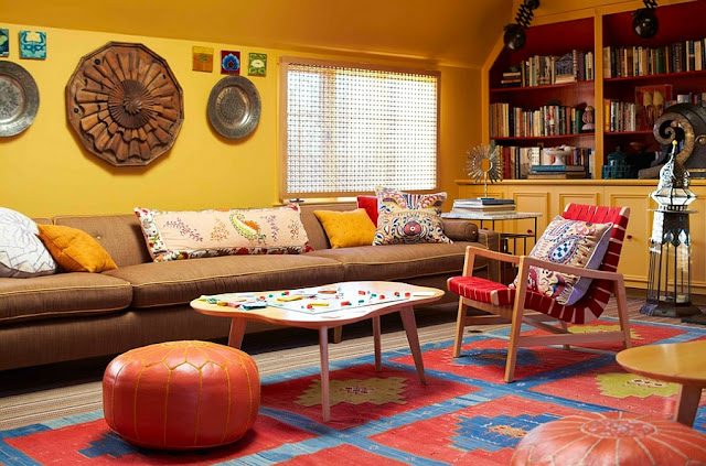 Fun Living Room Ideas with Transitional Appearan
