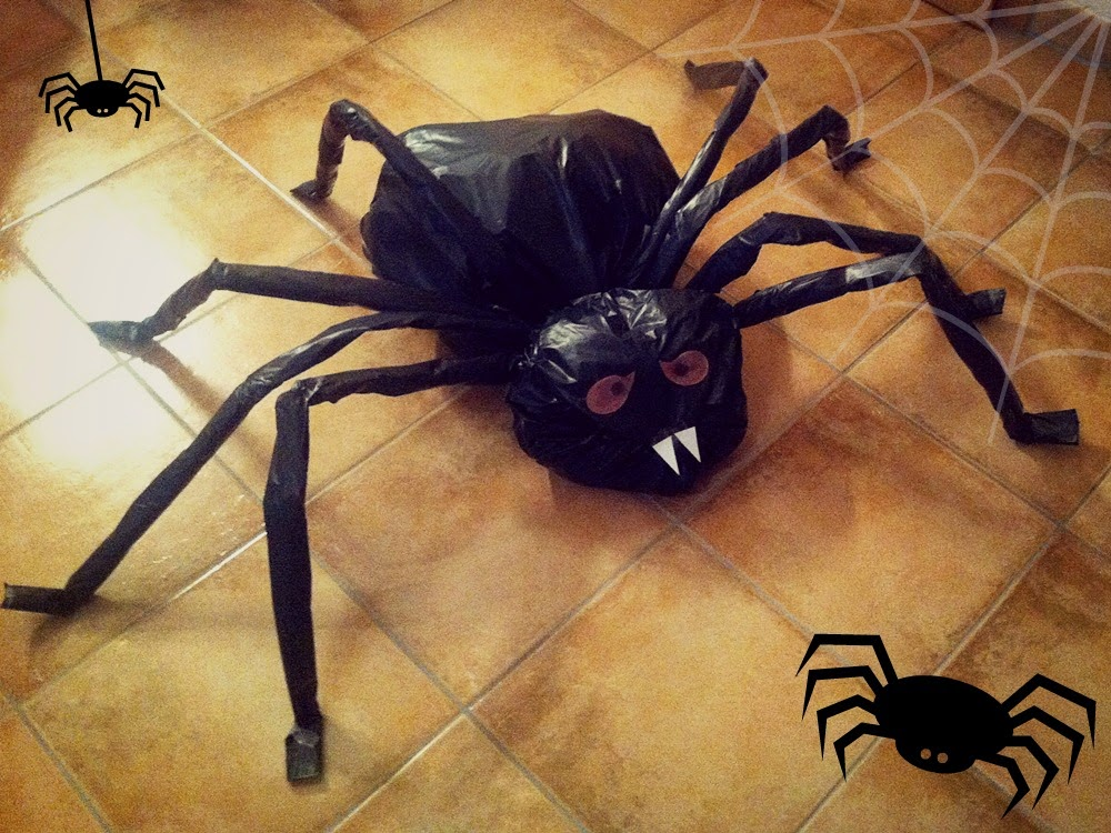 feel enjoy and create halloween dekoration diy spinne spider. Black Bedroom Furniture Sets. Home Design Ideas