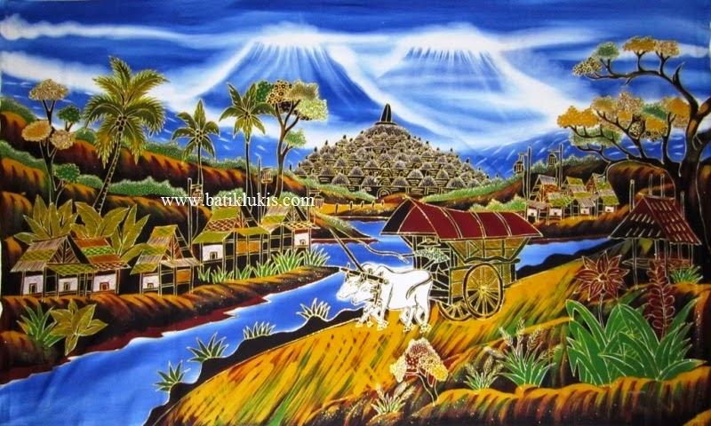 Lukisan Pemandangan 30  Lukisan Jakarta Bandung Bali Jogja