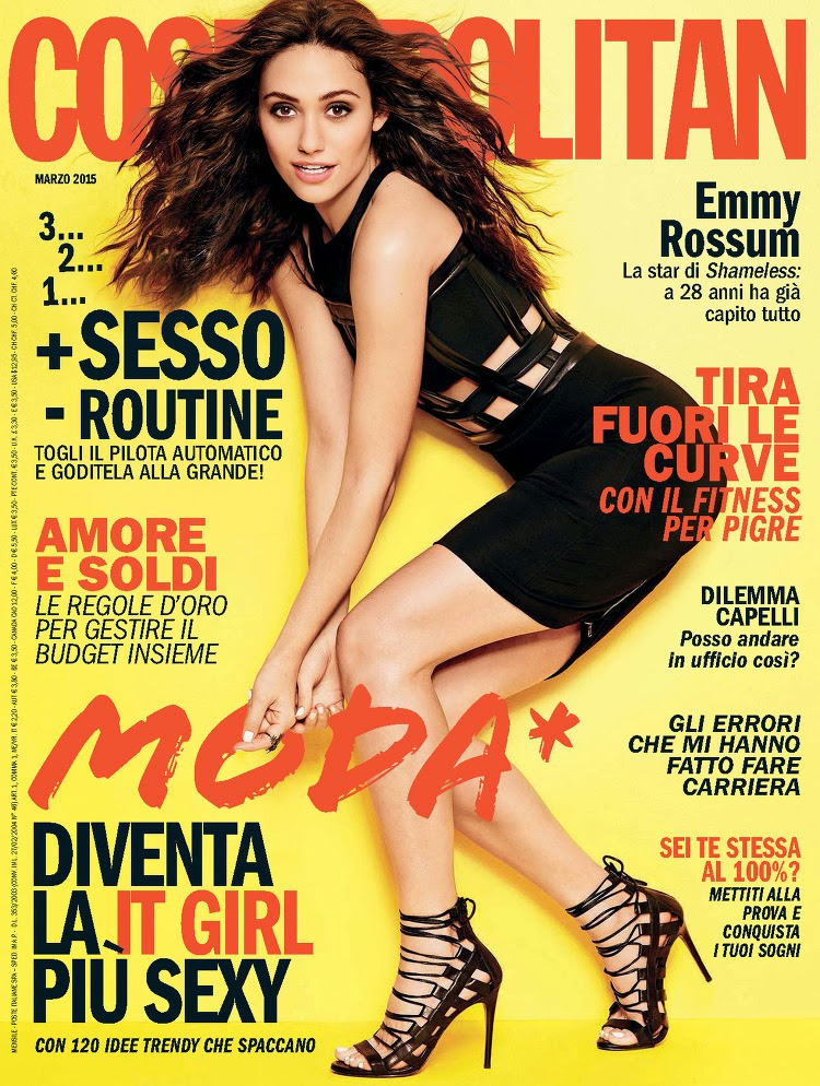 Actress, Singer, Songwriter: Emmy Rossum - Cosmopolitan Italy, March 2015
