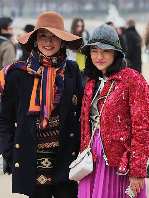 Paris fashion week, street
