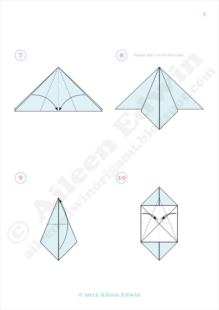 Origami Fish Diagrams (Aileen Edwin)