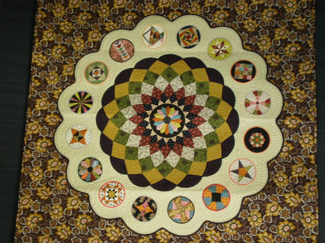 Quilting By Celia Cwb Block Completed Wool Fabric And