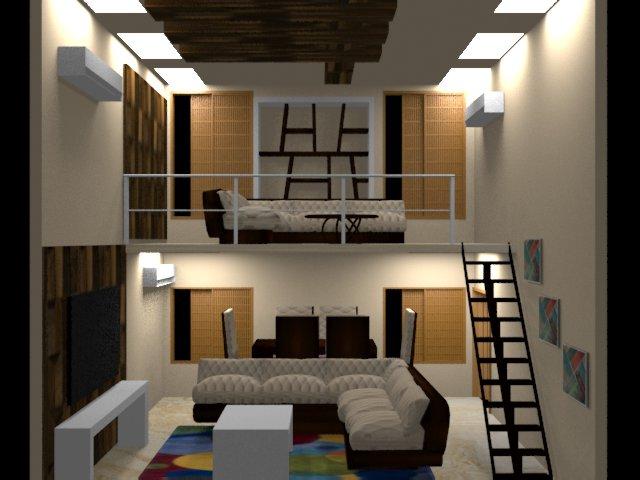 3d max living room design  Foundation Dezin