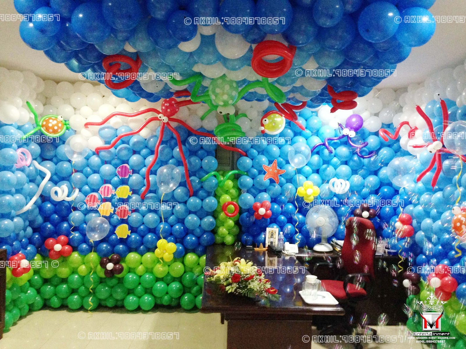 Balloon party decorators balloon decorations birthday for Balloon decoration for kids birthday party