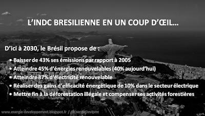 INDC brésilienne : les engagements pour le climat du Brésil avant la COP21