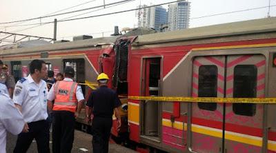 Kecelakaan Tabrakan Kereta di Juanda Hari Ini
