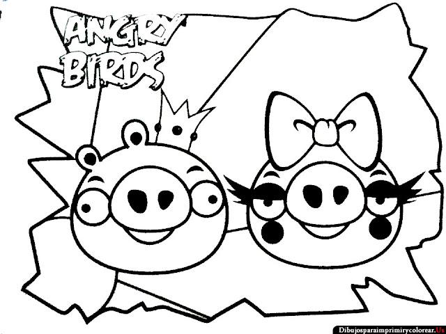 Dibujos de Angry Birds para Imprimir y Colorear