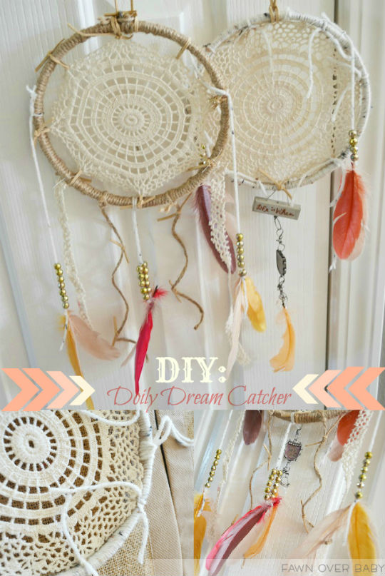 Fawn Over Baby DIY Doily Dream Catcher Delectable How To Make Doily Dream Catchers