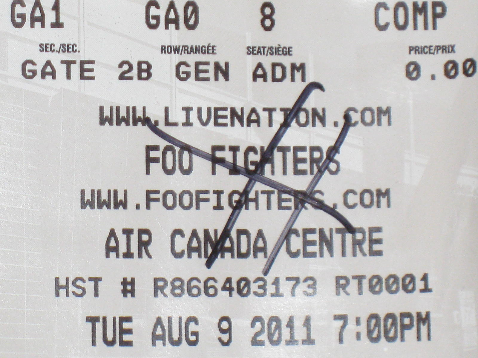 Foo Fighters Wasting Light Tour 2011