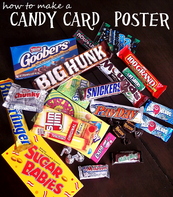 Candy Card Poster Craft for Father's Day.