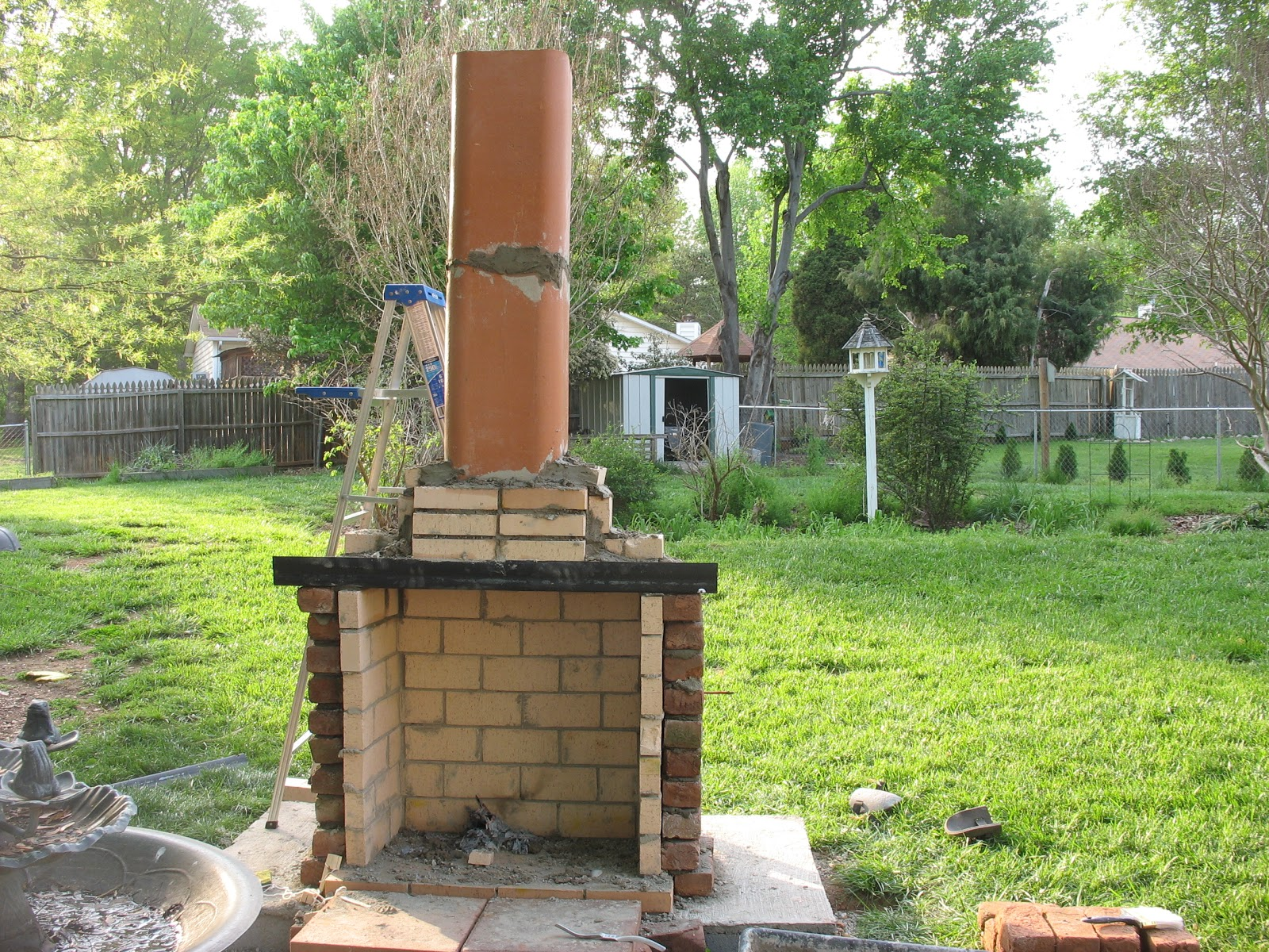 The gallery for how to build an outdoor fireplace with for How to build a small outdoor fireplace