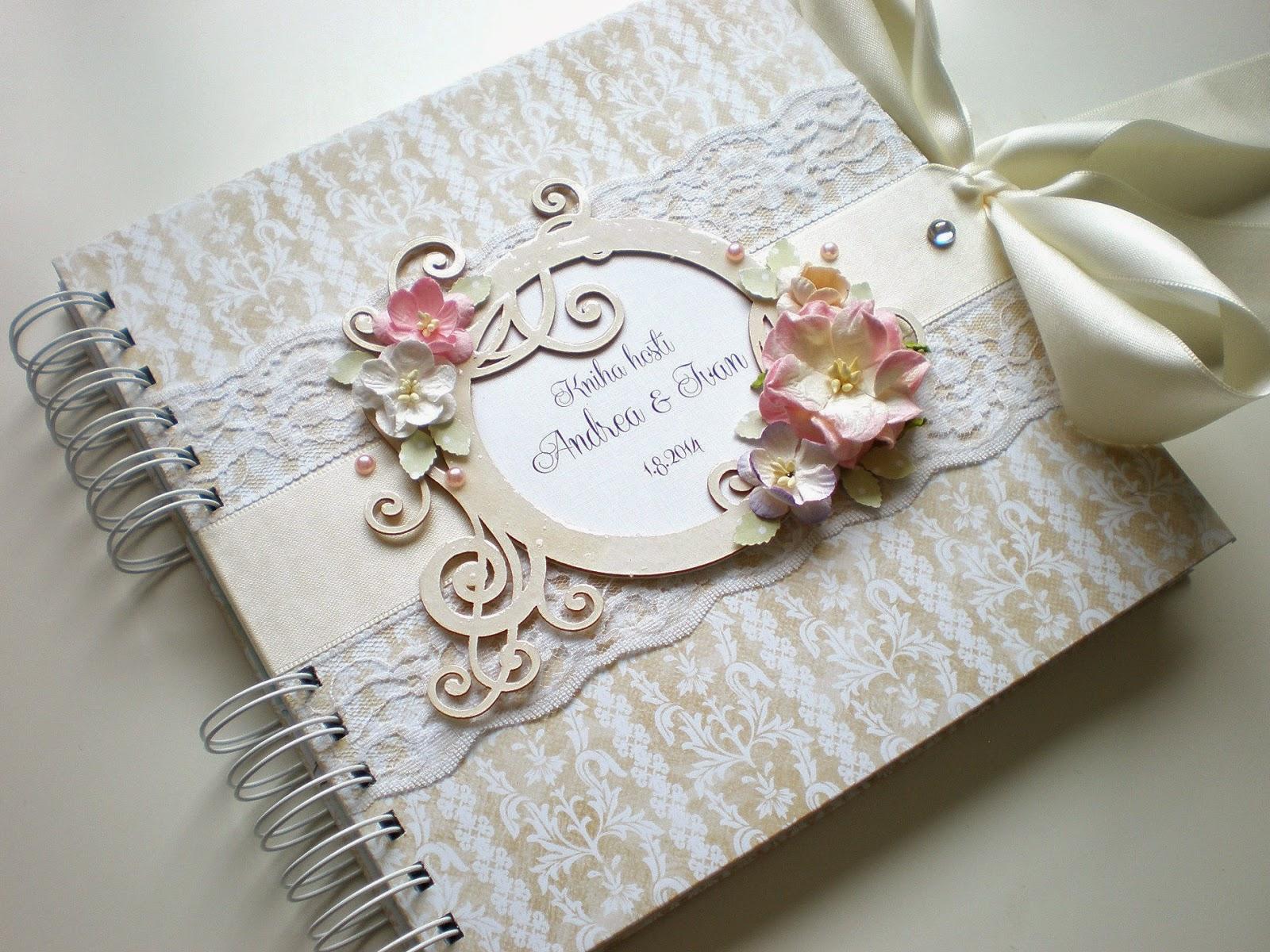 Romantická svadobná kniha hostí / Romantic wedding guest book
