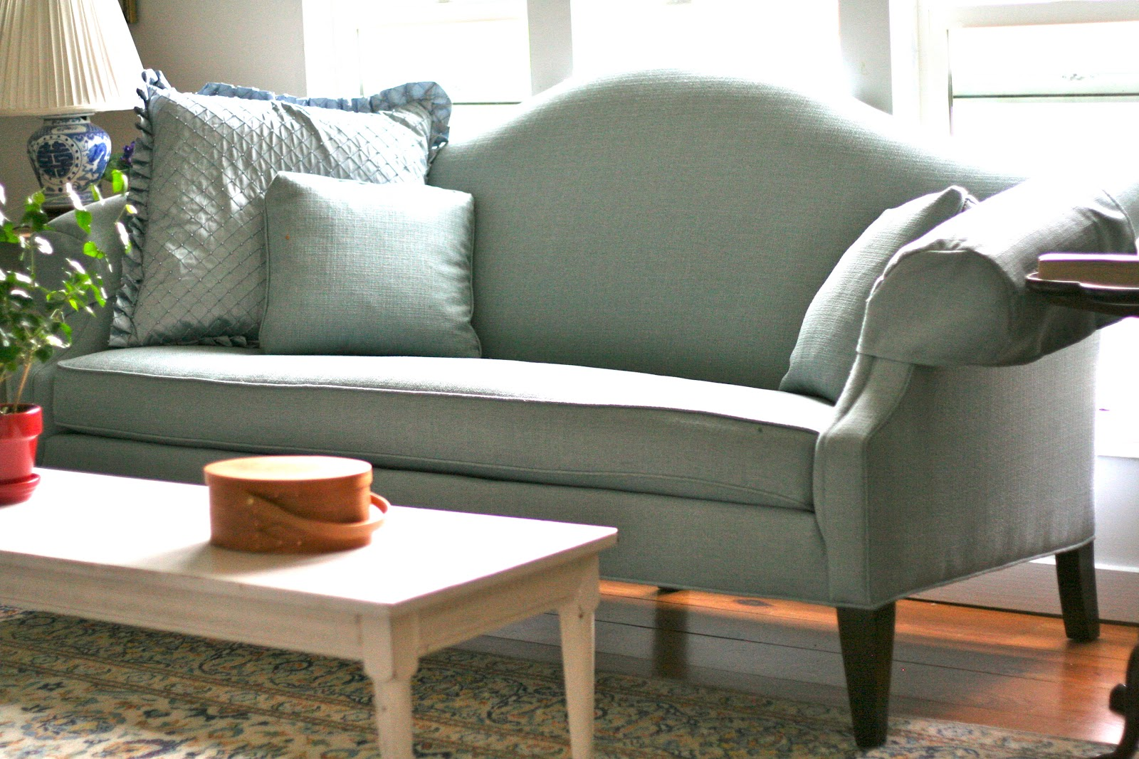Custom Slipcovers By Shelley White Camel Back Couch