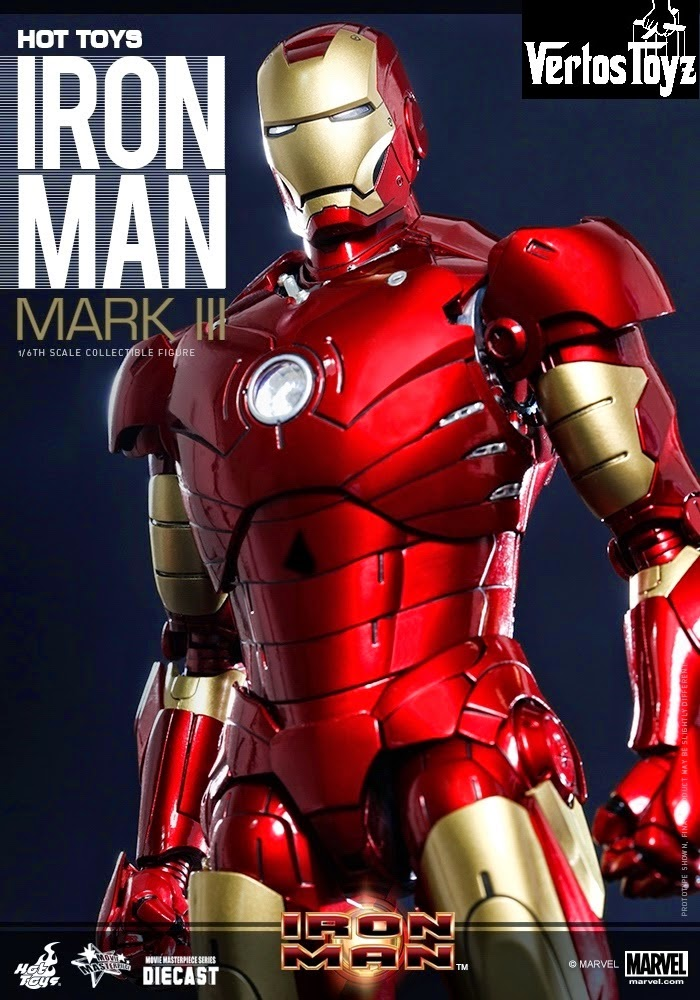 Pre Order Hot Toys Iron Man Mark III DIECAST MMS256DO7