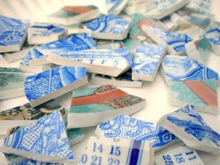 Broken China Pieces