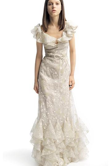 La fleur vintage romantic bohemian wedding dresses for Vintage wedding dresses austin