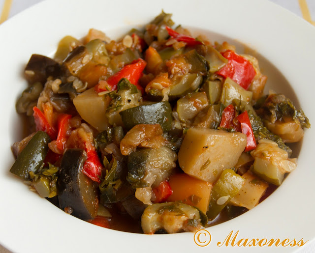Турлу (тушёный овощи). Греческая кухня.
