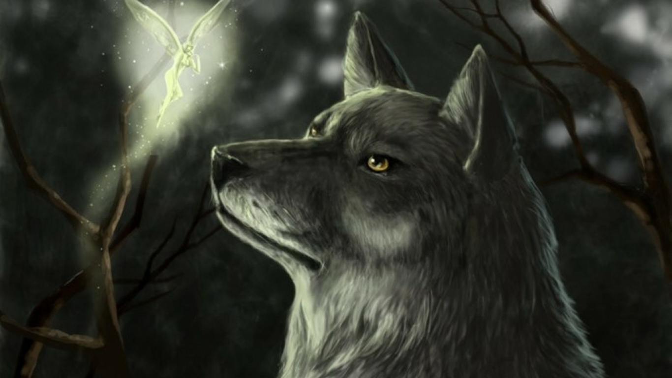 Amazing   Wallpaper Horse Creepy - dark-wolf-and-fairy-in-the-woods-wallpaper  Snapshot_585.jpg