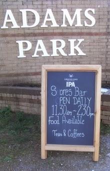 Adams Park humour - defaced blackboard