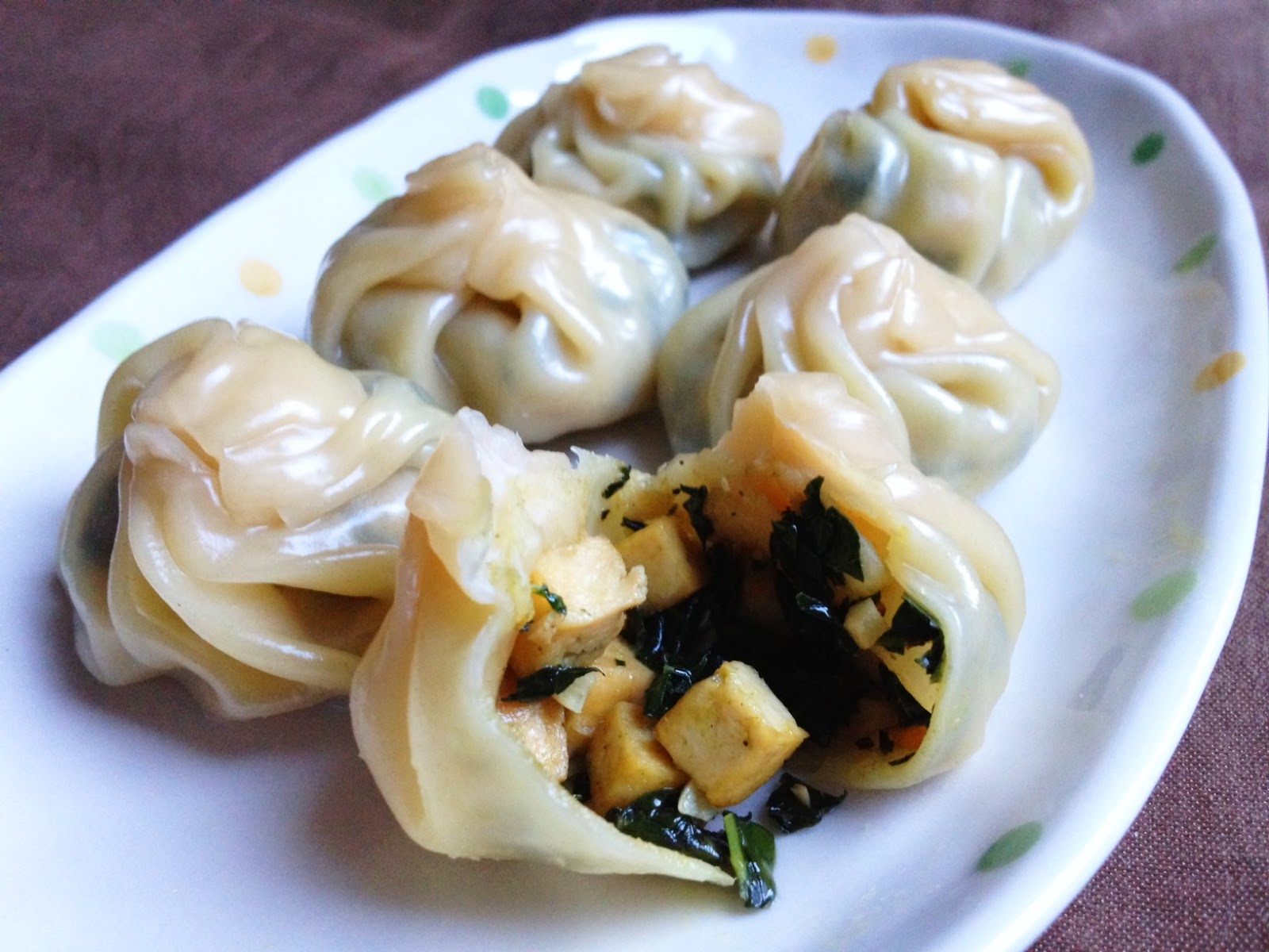Wholly Vegan: Steamed Tofu and Kale Dumplings