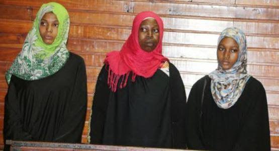Kenya Police arrest 3 young women terrorists on way to Al-Shabaab militia group in Somalia