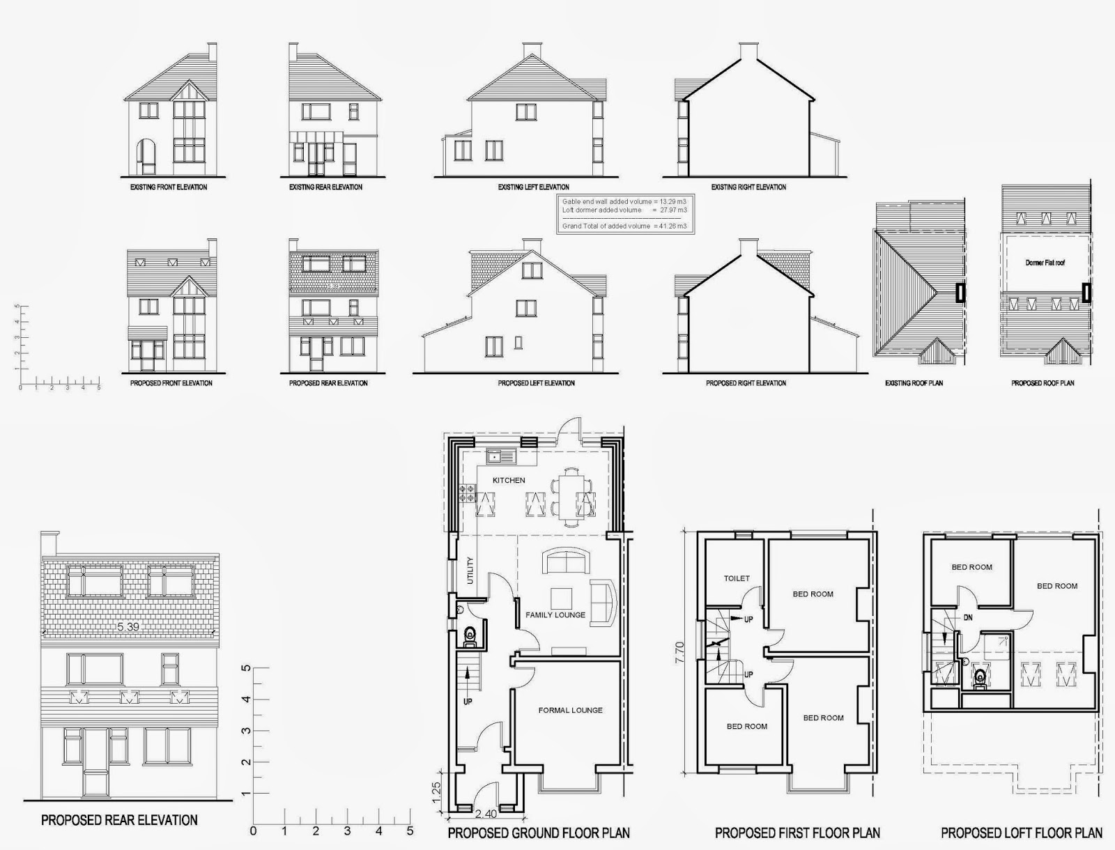Plan To Elevation Converter : Front elevation with measurement joy studio design